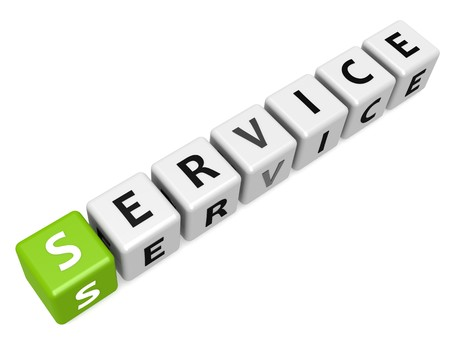 Service buzzword green Stock Photo - 24692167