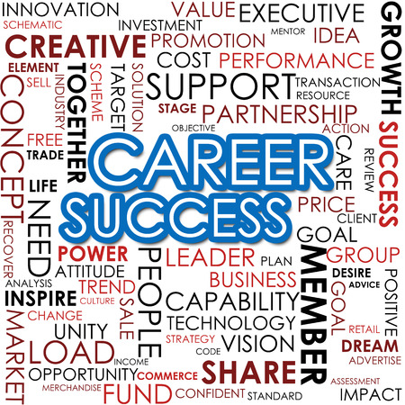 Career success word cloud photo