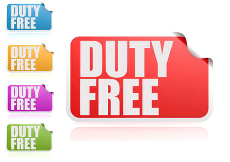 duty: Duty free label set