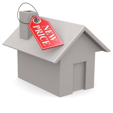 House new price label photo