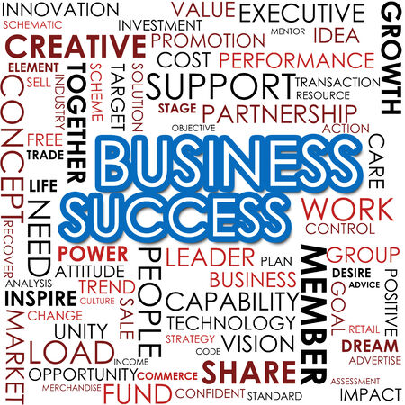Business success word cloud photo