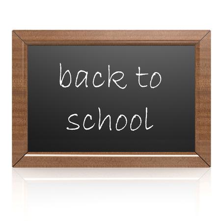 Blank blackboard- back to school Stock Photo