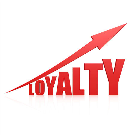 fidelity: Loyalty red arrow Stock Photo