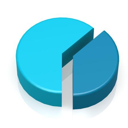 Blue pie chart