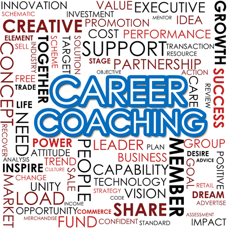 Career coaching word cloud photo