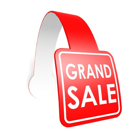 Grand sale hang label photo
