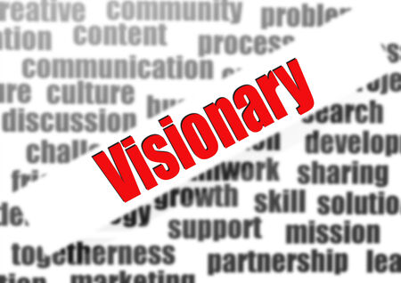 Visionary word cloud photo