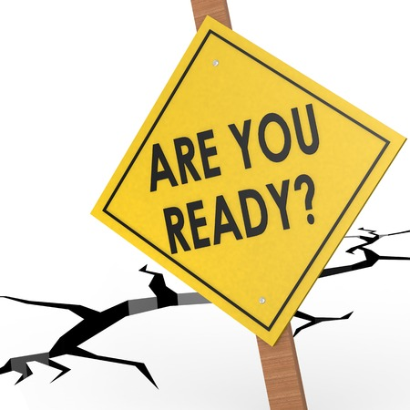 readiness: Are you ready sign board