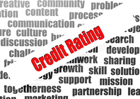 exemptions: Credit Rating word cloud Stock Photo