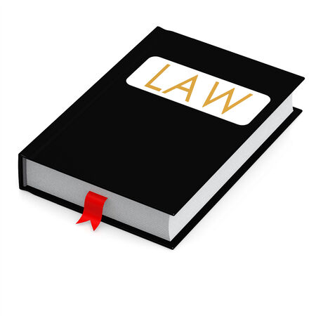 learned: Law book Stock Photo