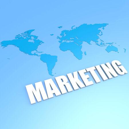 Marketing world map Stock Photo
