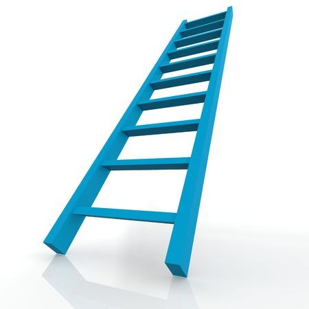 Blue ladder photo