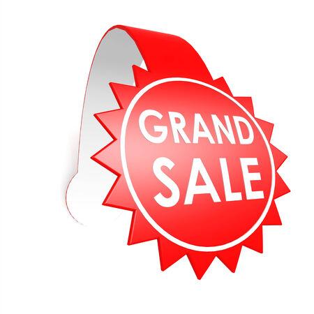 grand sale: Grand sale star label
