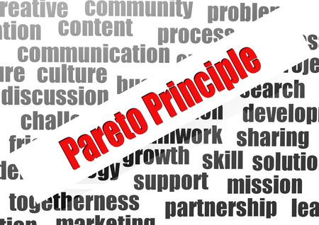 Pareto principle word cloud photo