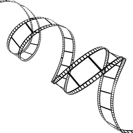 Tira de la película twisted Foto de archivo - 25718006