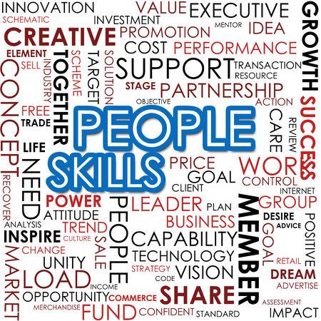 alliances: People skill word cloud