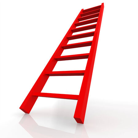 backstairs: Red ladder