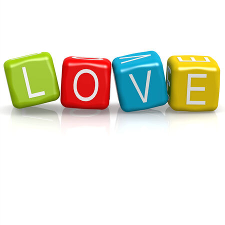 Love cube word photo