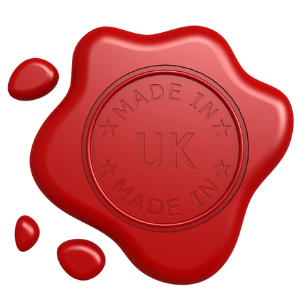 Made in UK stamp photo