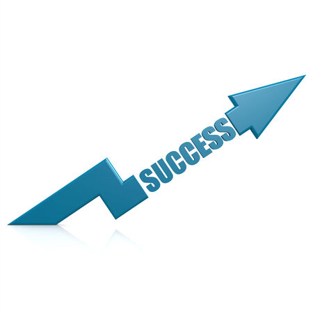 Success arrow up blue photo