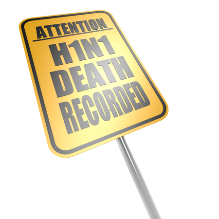 H1N1 death recorded road sign photo
