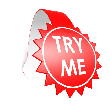 Try me star label photo