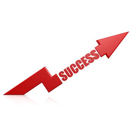 Success arrow up red Foto de archivo