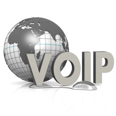mobile voip: VOIP, globe and mouse