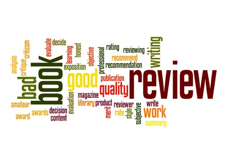 Book review word cloud Foto de archivo