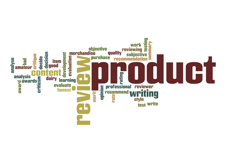 subjective: Product review word cloud