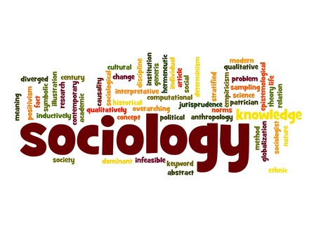 political and social issues: Sociology word cloud