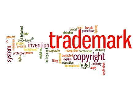 to sue: Trademark word cloud