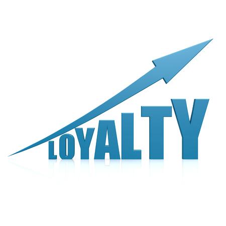 customer records: Loyalty blue arrow Stock Photo