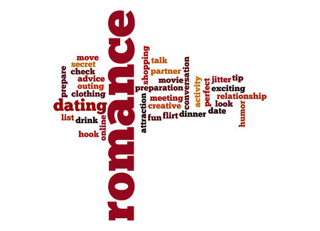 jitter: Romance word cloud Stock Photo