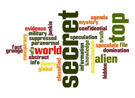 Top secret word cloud photo