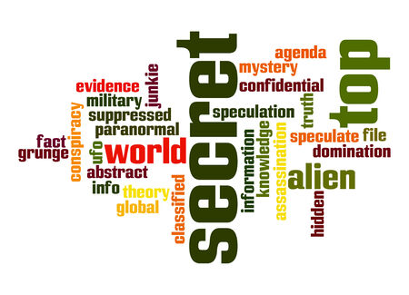 secret word: Top secret word cloud