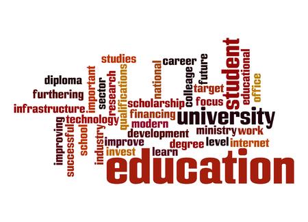 job qualifications: Education word cloud Stock Photo