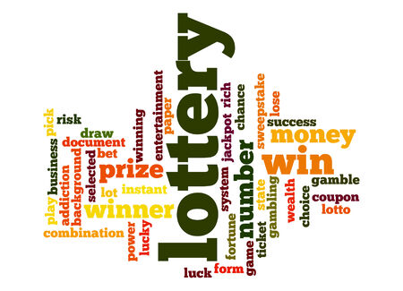 sweepstake: Lottery word cloud Stock Photo