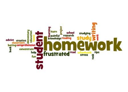 comprehension: Homework word cloud
