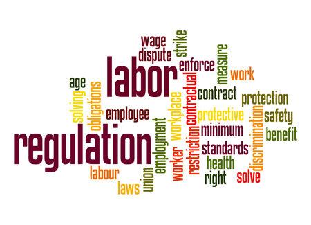 labor union: Labor regulation word cloud