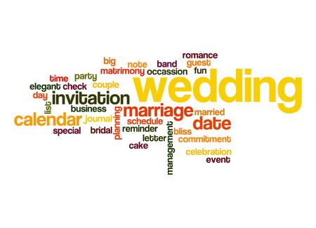 Wedding word cloud photo
