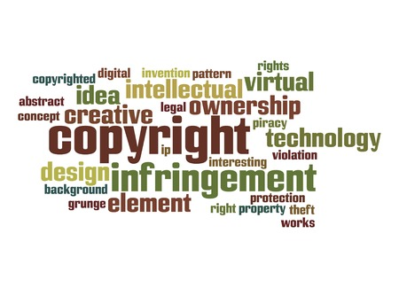 Copyright word cloud photo