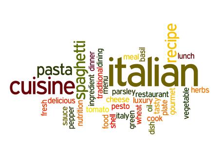 italian cuisine: Italian Cuisine word cloud
