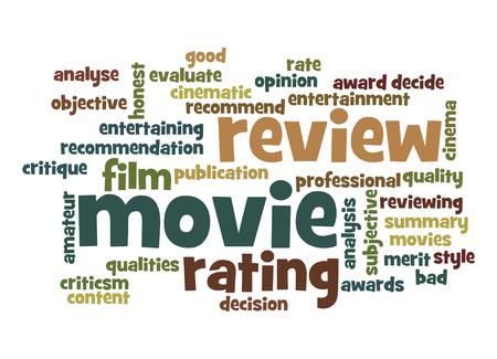 critique: Movie review word cloud