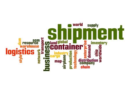 scm: Shipment word cloud