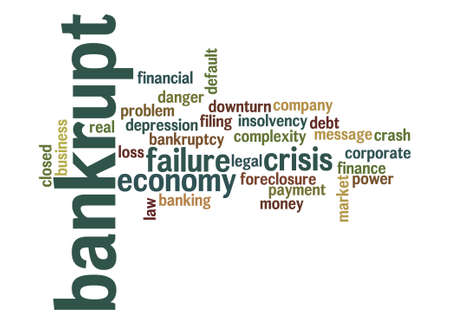 bankrupt: Bankrupt word cloud Stock Photo