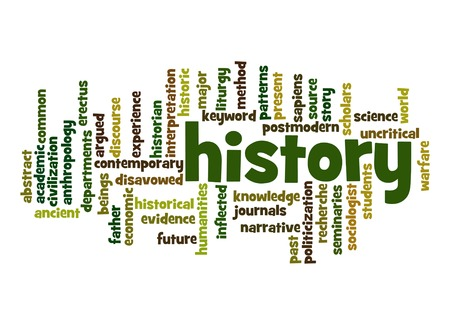 a war historian: History word cloud Stock Photo