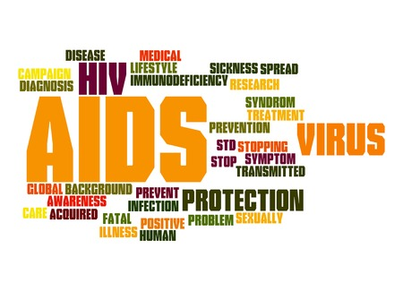 AIDS word cloud Stock Photo