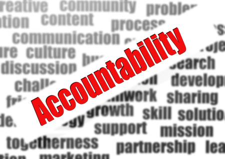 Accountability word cloud