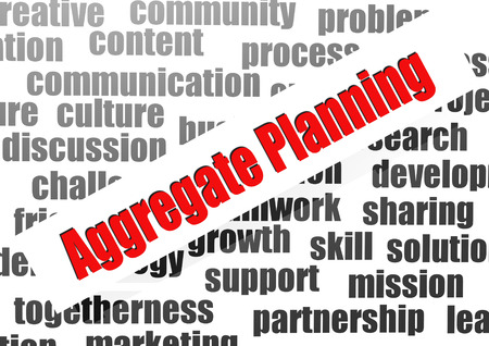 on aggregate: Aggregate planning word cloud Stock Photo